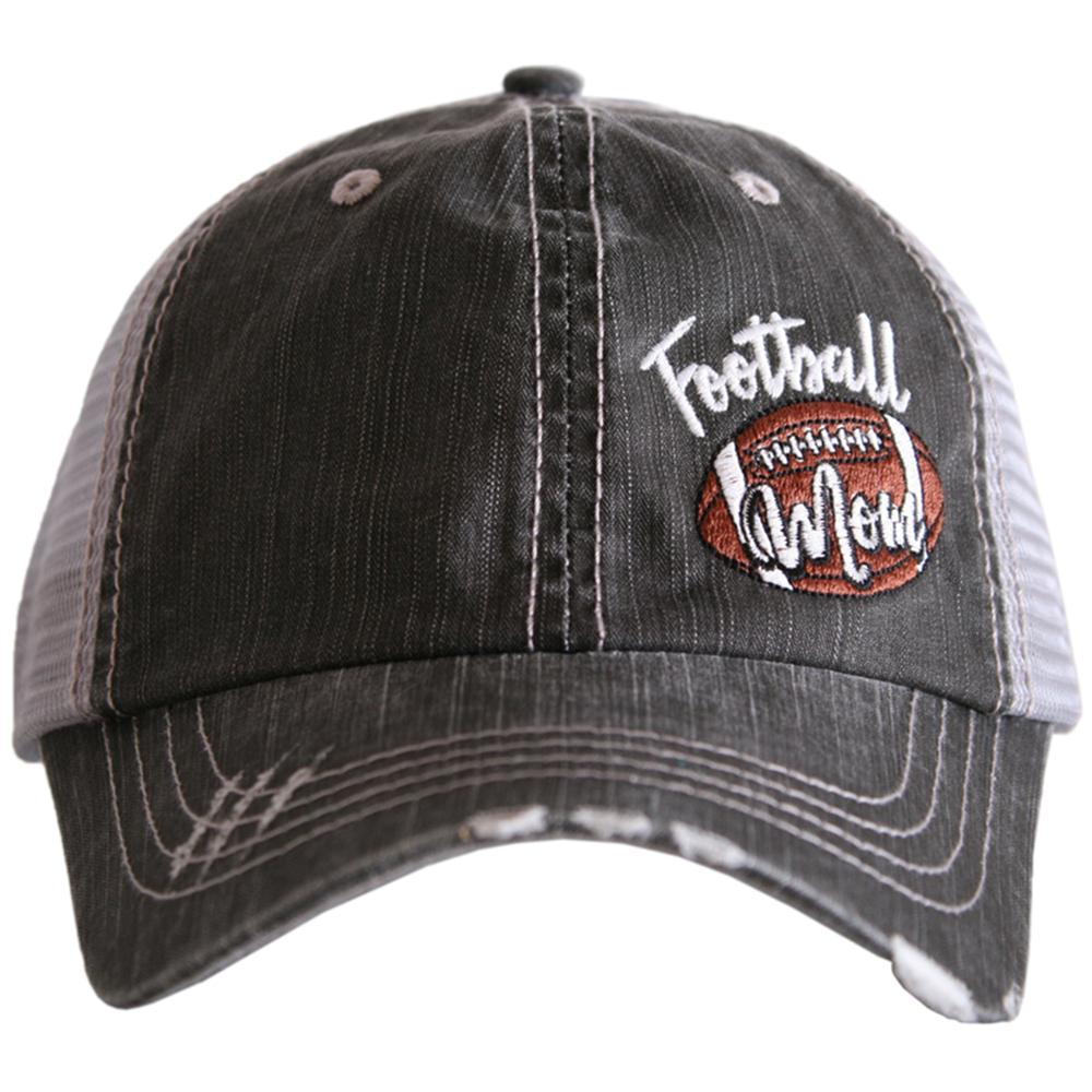 Football Mom Side Patch Trucker Hats