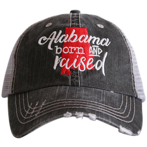 Alabama Born and Raised Trucker Hats
