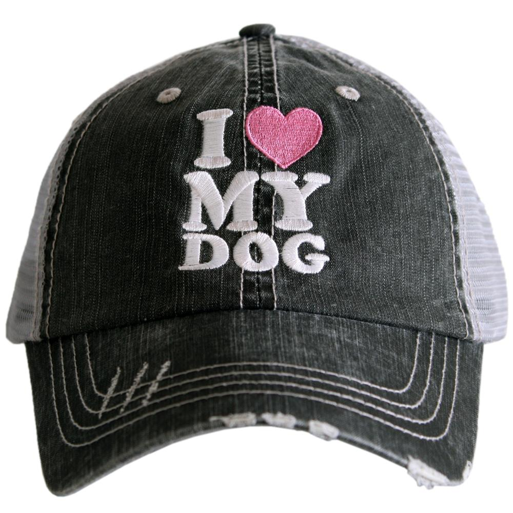 I Love My Dog Trucker Hats