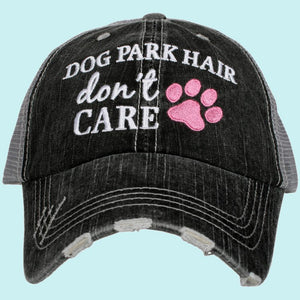 Dog Park Hair Don't Care Trucker Hats
