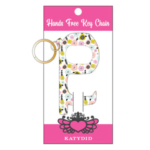 Pastel Flowers Hands Free Key Chain