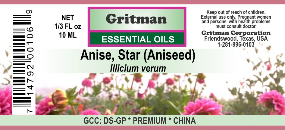 Anise, Star Essential Oil