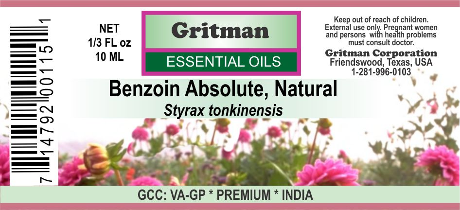 Benzoin Essential Oil (Absolute)
