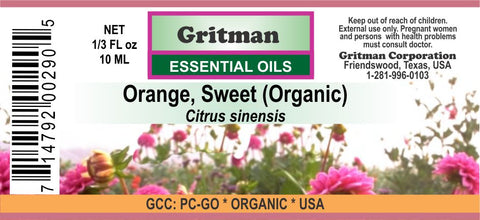 Orange, Sweet (Organic) Essential Oil