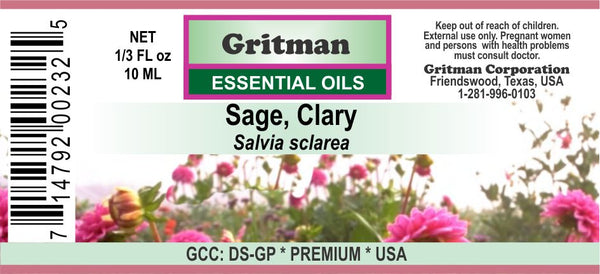 Sage, Clary Essential Oil