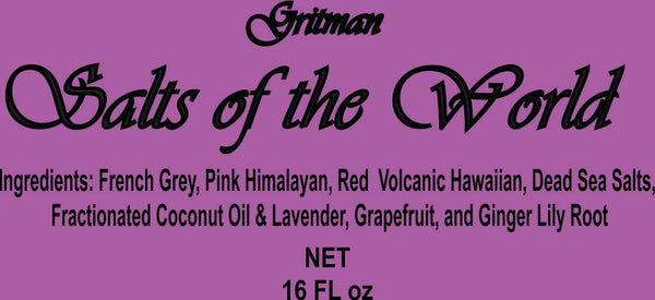 Salts of the World: Lavender Grapefruit Gingerlily