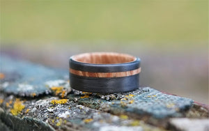 Bound Maple Burl Offset Ring