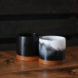handmade resin beverage tumblers