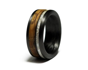 Asym Whiskey Antler Ring
