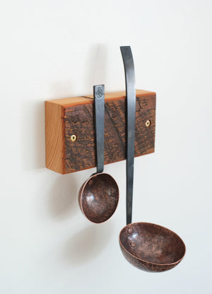 Barn Wood Double Utensil Rack