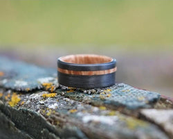The Althea - Maple Burl Offset Ring