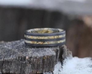 Black Maple Double Band Ring