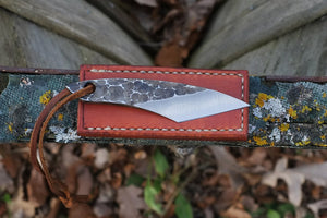 The Traveller - Hammered Finish Knife side view