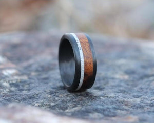 Ironwood & Antler Handmade Ring front view