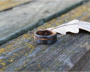 Bound Spalted Maple Offset Artisan Ring