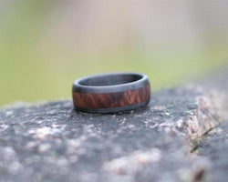 The Wolfe – Walnut and Carbon Fiber Ring