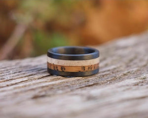 Symm Whiskey Antler Ring front view