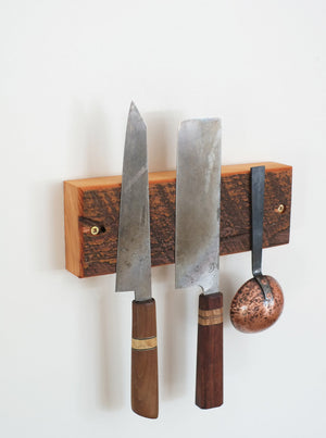 Barn Wood Triple Knife and Utensil Rack