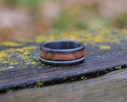 The Asym - Whiskey Barrel Antler Ring