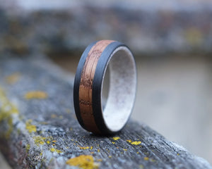 Conall - Antler Lined Whiskey Barrel Ring