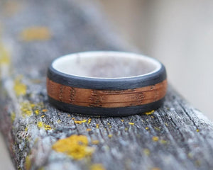The Conall - Antler Lined Whiskey Barrel Ring
