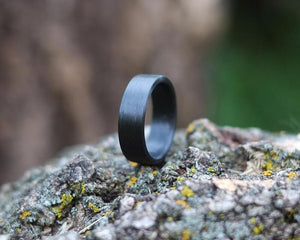 Carbon Band Handmade Ring