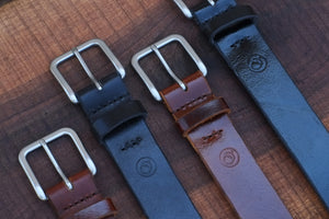 Hand Stitched Leather Belts