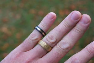 The Roman - Brass Barrel Ring