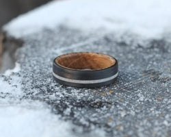 The Dram - Whiskey Barrel Lined Antler Ring