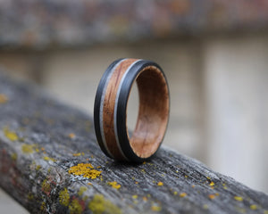 Heath - Whiskey Barrel and Antler Double Band Ring