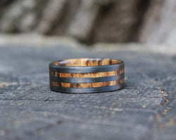 Atlantic – Spalted Maple Double Band Ring