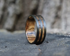 The Atlantic – Spalted Maple Double Band Ring