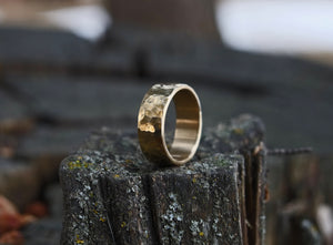 Alloy - Hammered Brass Ring