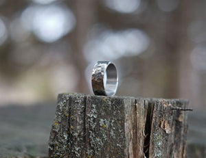 Chrome - Hammered Stainless Ring