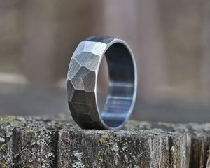 Carter - Stainless Steel Faceted Ring