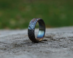Iris - Stainless Steel Micro Faceted Ring