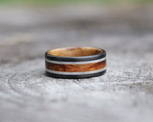 Wilder - Maple and Antler Double Band Ring