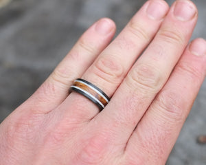 The Wilder - Maple and Antler Double Band Ring