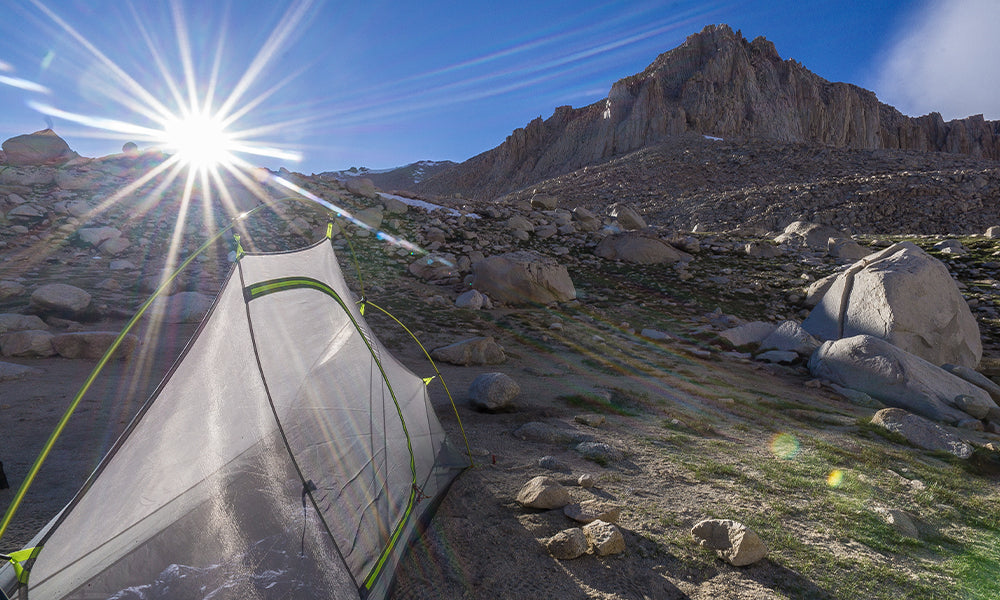 A night on the High Sierra Trail. Shot on my Sony A600, you can see the sun setting next to Mount Whitney, the highest point in the lower 48 States. This was one of my first favorite pictures that made me start taking photography more seriously.