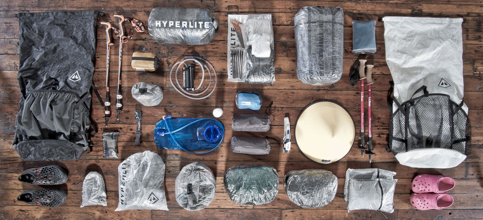 Ultralight gear for the Appalachian Trail. Everything Tenderfoot is bringing.