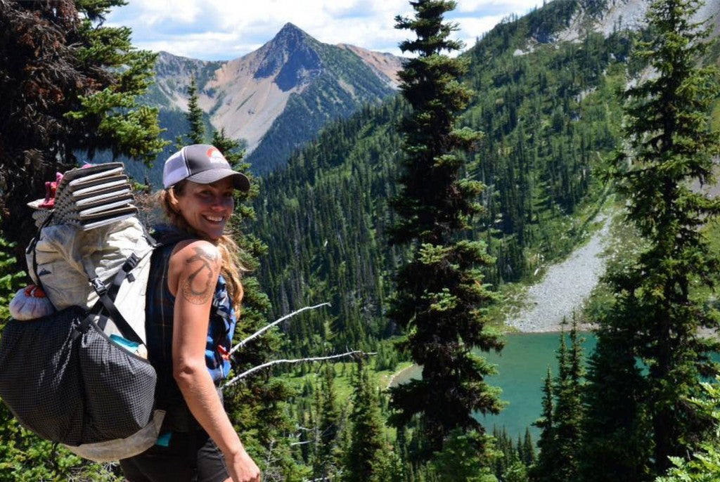 Ashley Hill on the Pacific Northwest Trail with her Southwest Pack.