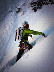 Bud Martin slogging upslope in the Himalayas.