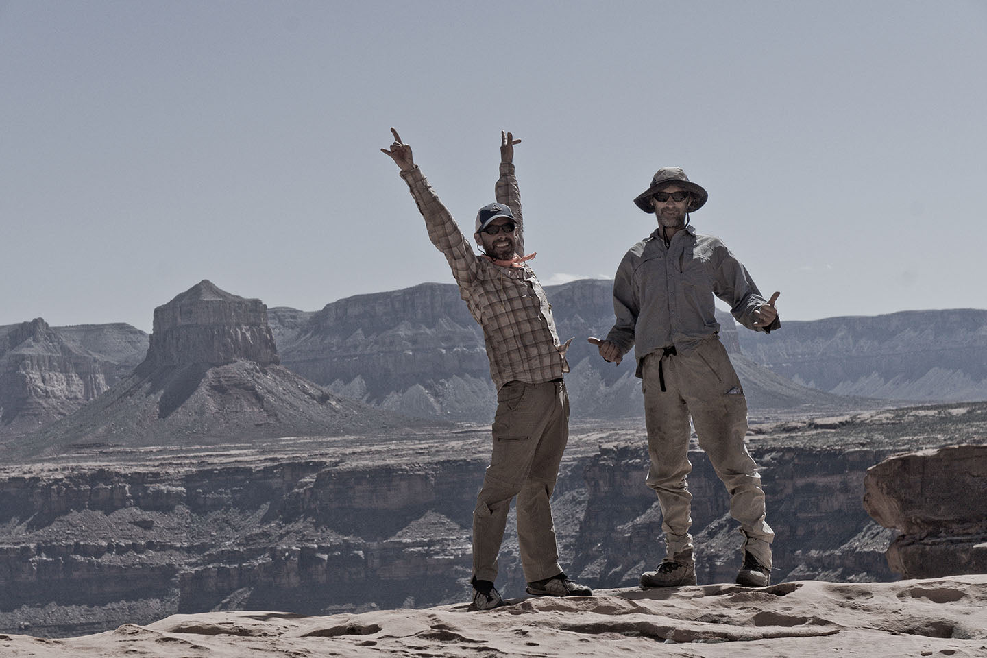 Mike St. Pierre and Clay Wadman succeeded on their section hike in part becausethey relied on Wadman's skills with maps. Theirelectronic devices–the DeLorme inReach and Mike's iPhone–were also important tools.