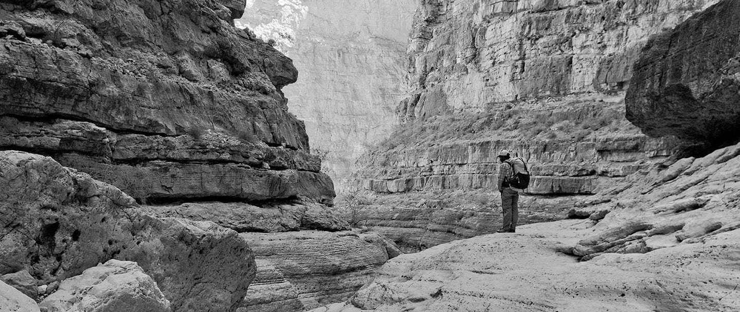 Looking into one of the many abysses of the Grand Canyon.