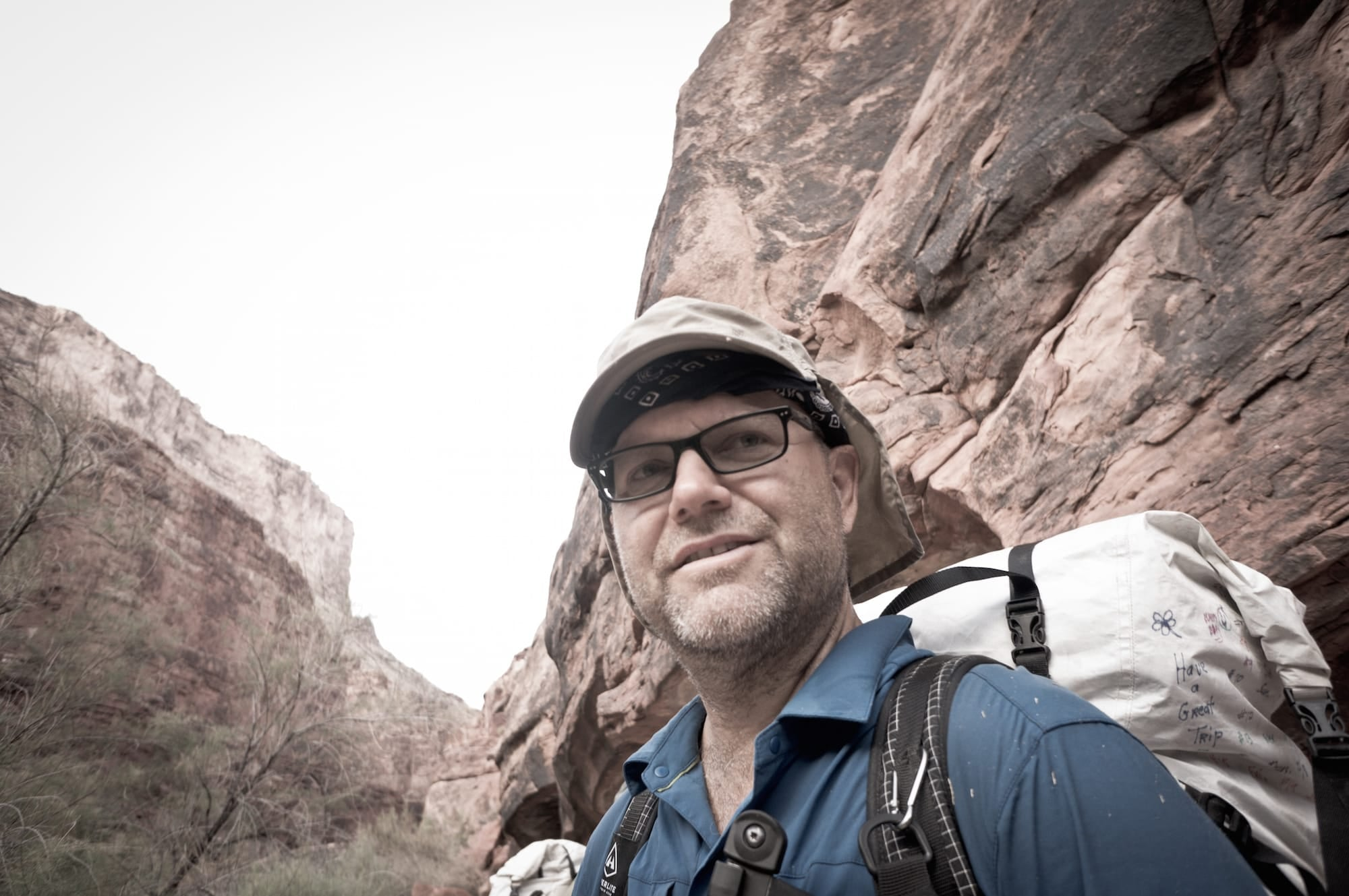 Adventurer Rich Rudow completed a 700-mile thru hike of the grand canyon.