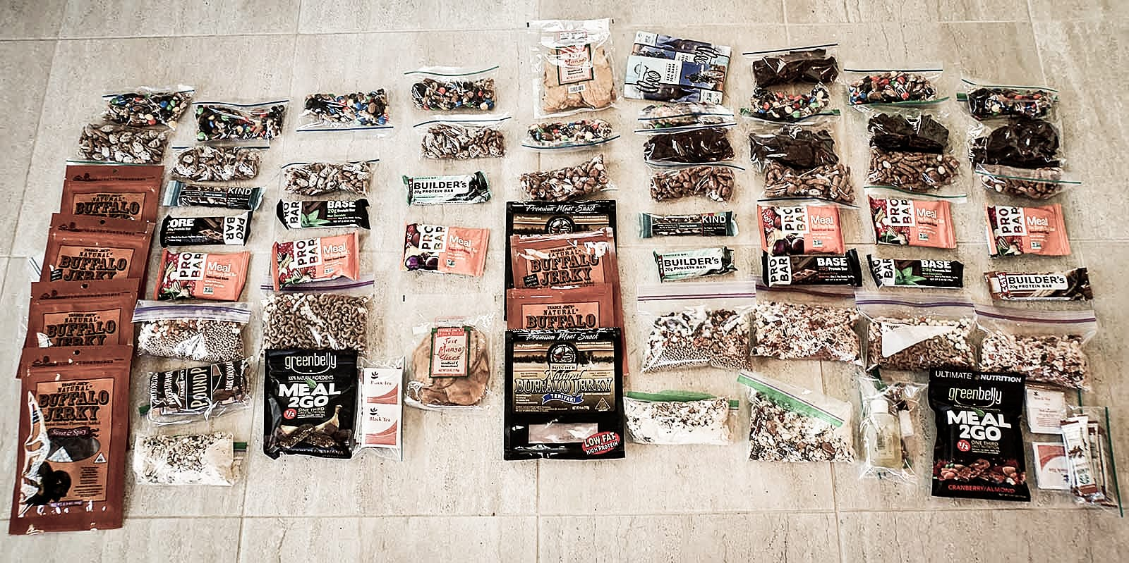 Healthy and satisfying food for less weight: My nutritious and high calorie Backpacking Food gives me 3,000 healthful and filling calories of complex carbs, protein and healthy fats for around 1.5 pounds. This could save me as much fivepounds or more of food on a trip vs. a typical backpacker's food.