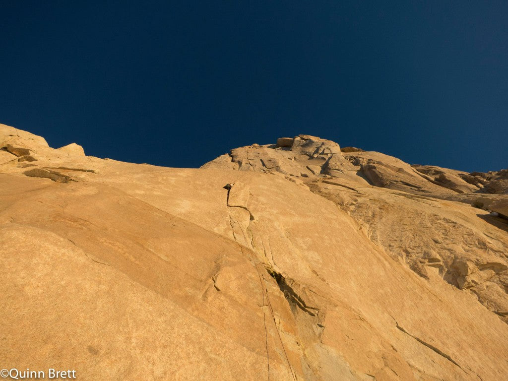 """The stunning headwall and """"The Colorado Route"""" (6c+)"""