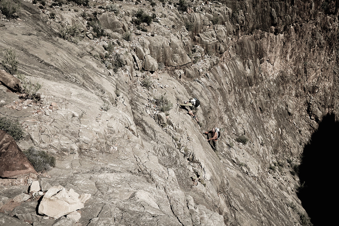Atwood and Forsyth free solo the Dome Pocket route.