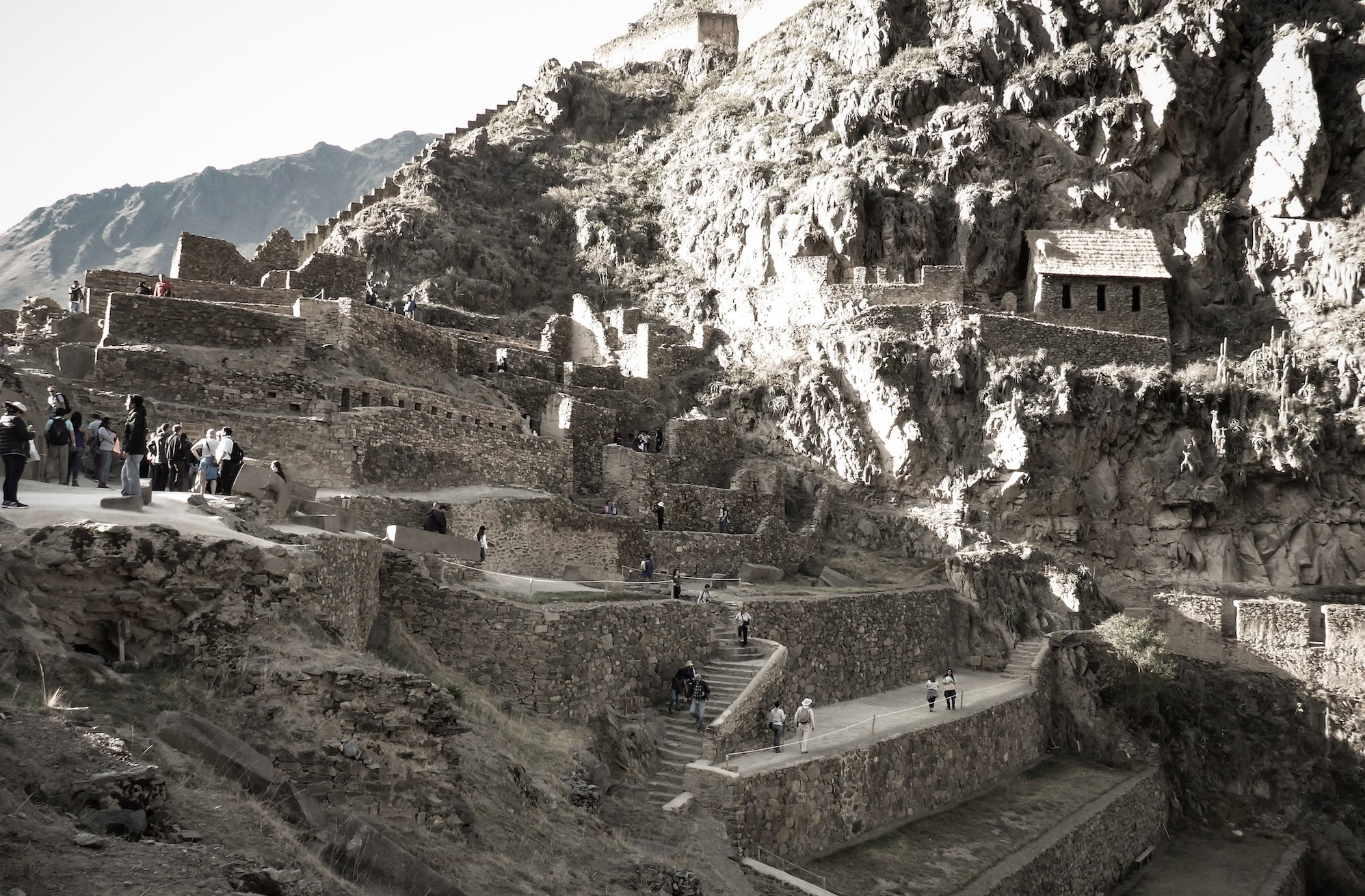 The Ollantaytambo ruins are some of the most impressive I have visited. Avoiding early morning or late afternoon can circumvent a lot of bus visitors.