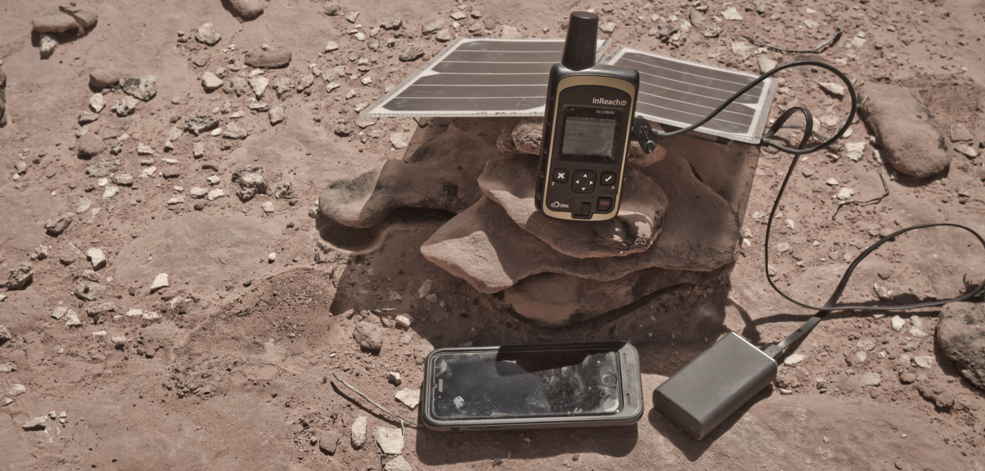 The iPhone 6 weighs 4.5 oz. and has a 1334 x 750 pixel screen. The DeLorme inReach, currently the best handheld GPS, weighs 6.7 oz.